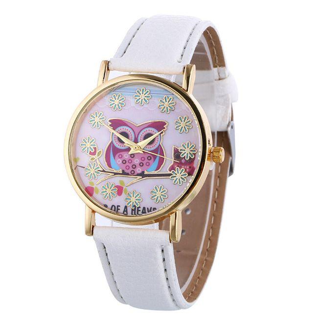 Náramkové hodinky se sovičkou - Bílá 1