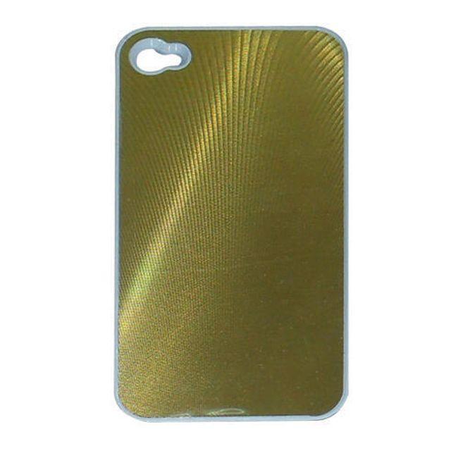 Kovové ochranné pouzdro pro iPhone 4 a 4S - zlatá barva 1