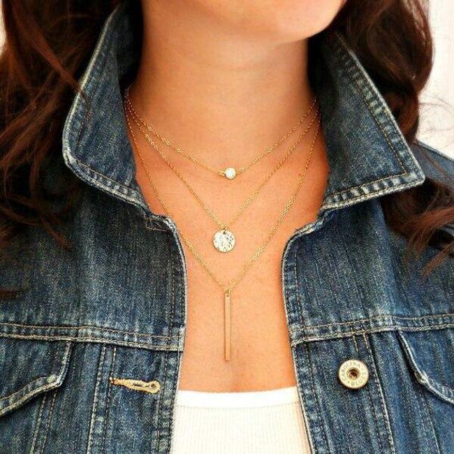 Элегантное многослойное ожерелье  1