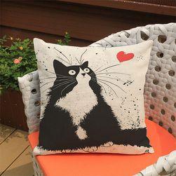 Povlak na polštář s bláznivými kočkami - varianta 1