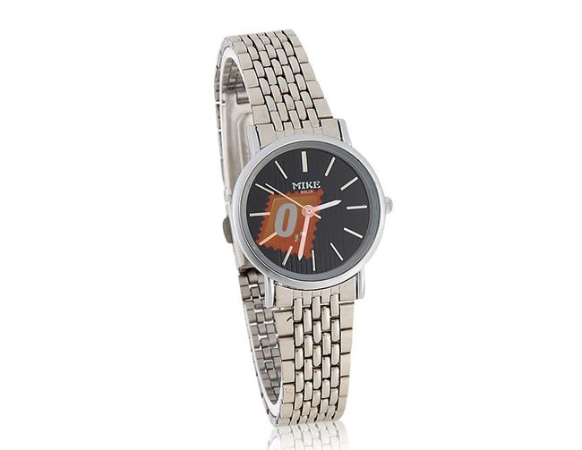 Dámské elegantní hodinky z nerezové oceli - stříbrná barva 1