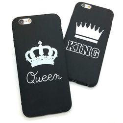 Védő tok iPhone-hoz - Királynő&Király