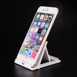 Stojánek v bílé barvě pro smartphone