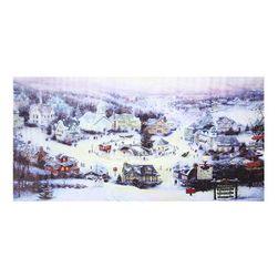 Bezrámový obraz - vánoční městečko
