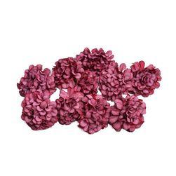 Umělé květiny Hortenzia Červená