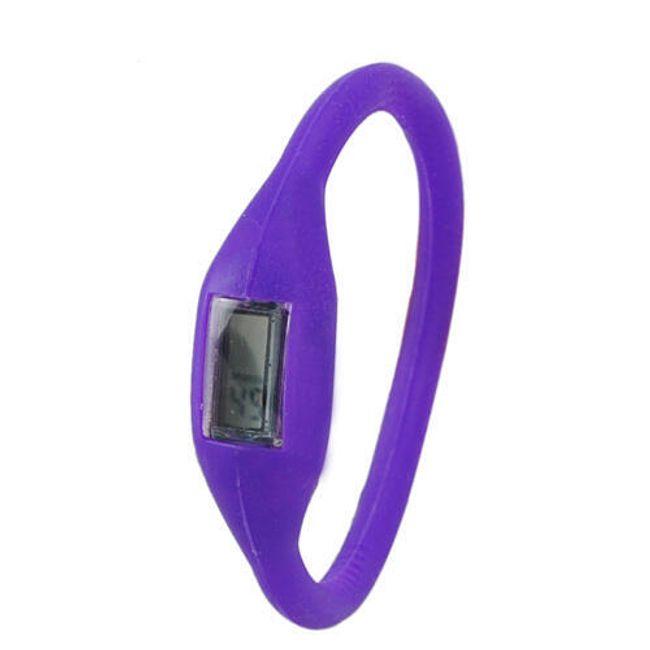 Cyfrowy silikonowy zegarek ION - Fioletowy 1