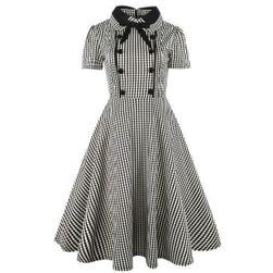 Retro šaty s knoflíčky - 4 varianty