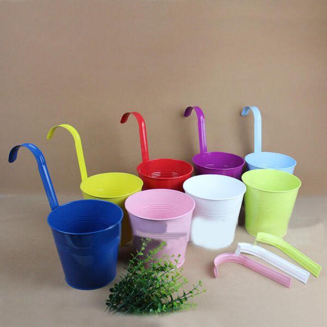 Doniczka wisząca plastikowa - 8 kolorów 1