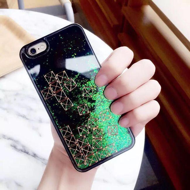 Zadní kryt pro iPhone 7 - barevný písek 1
