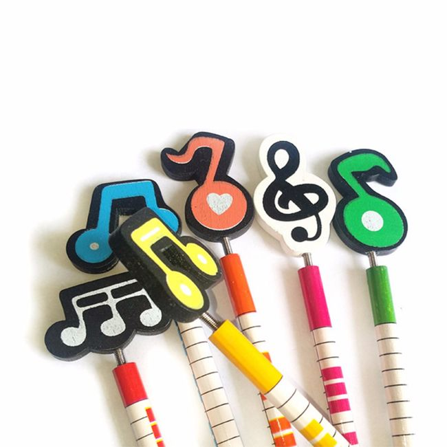Dřevěná tužka s hudebním motivem - sada 12 ks 1