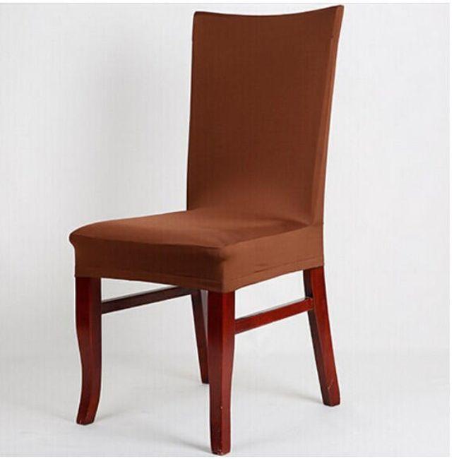 Jednobarevný potah na židli - Hnědá 1