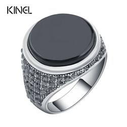 Pánský prsten - černá barva