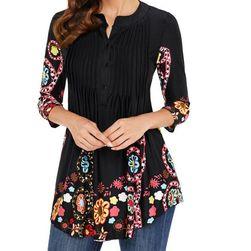 Женская блузка с разными мотивами - 4 варианта