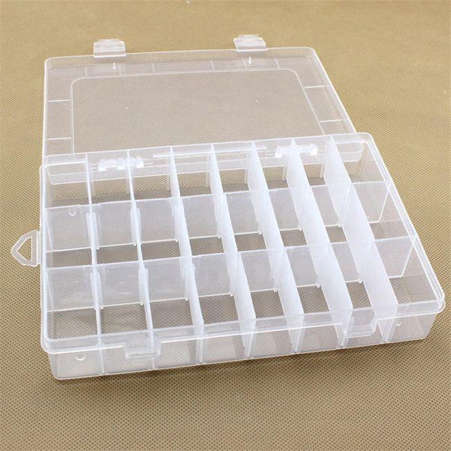 Przezroczysty plastikowy organizer - 24 przegródki 1