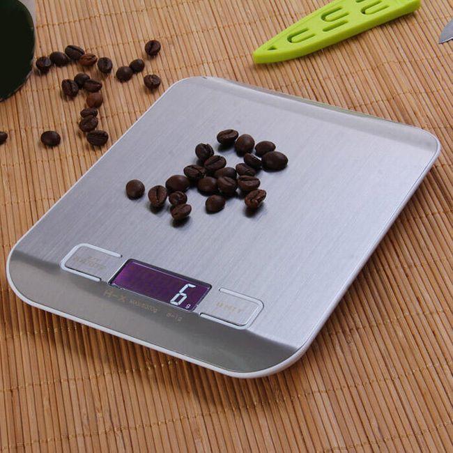 Precíziós konyhaasztal skála LCD kijelzővel 1