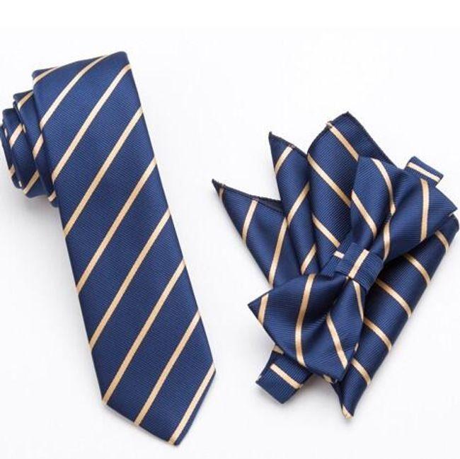 Csokornyakkendő  nyakkendő és zsebkendő - készlet az eleganciaért