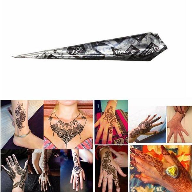 Натуральная хна-краска для Мехенди татуировки- чёрный цвет 1