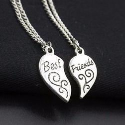 Ogrlica za najbolje prijateljice - srebrna boja