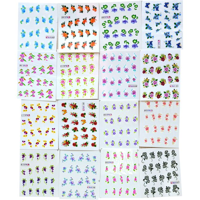 Nalepke za nohte 50 listov 1
