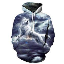 Pulover z belim volkom - več velikosti
