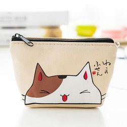 Dámská peněženka s vtipnou kočkou - 4 barvy