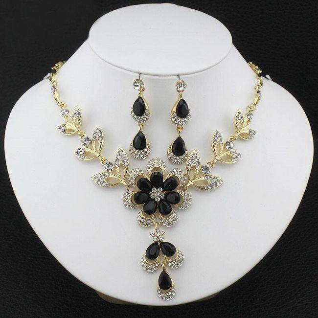 Sada šperků s květinou - 3 barvy 1