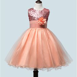 Dívčí šaty s květinou a bohatou sukní - 10 barev