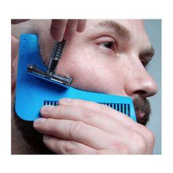 Szablon z grzebieniem do precyzyjnego golenia