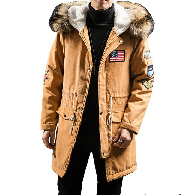 Pánský zimní kabát s kapucou Jamar 1
