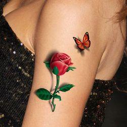 Privremena tetovaža - ruže sa leptirom
