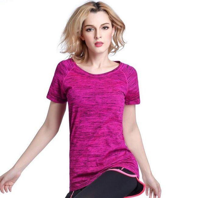 Dámské fitness tričko z prodyšného materiálu  1