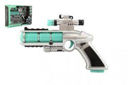 Pistolet z celownikiem, plastikowy 20cm na baterie z dźwiękiem i światłem w pudełku RM_00850259