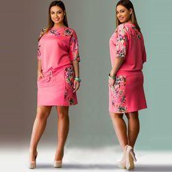 Весеннее платье свободного покроя размеров плюс