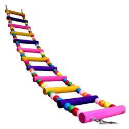 Разноцветный подвесной мостик для попугая или грызуна