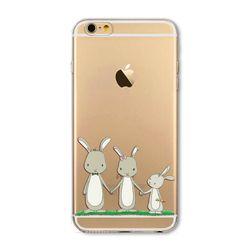 Силиконовый чехол с рисунками животных для iPhone 7/6 / 6S / 5 / 5S / SE / 7 Plus / 6SPlus / 5C / 4S