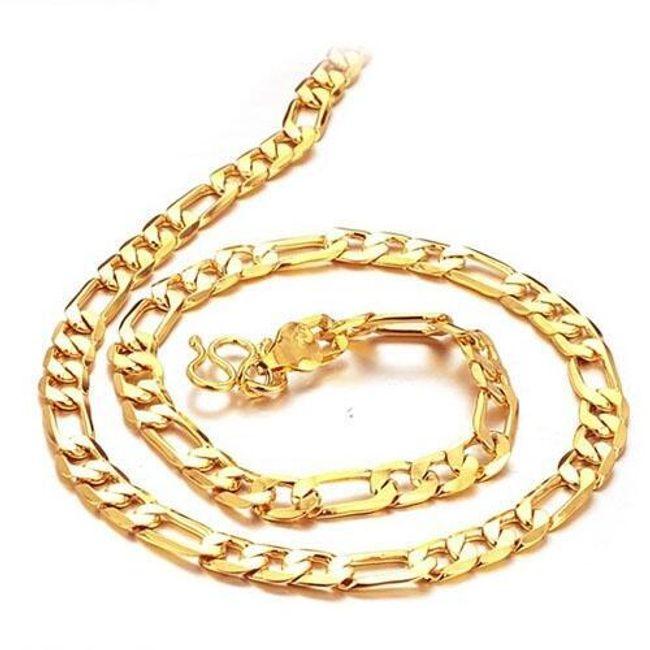 Мужская цепочка-трос- золотой цвет 1