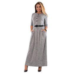 Длинное женское платье с поясом