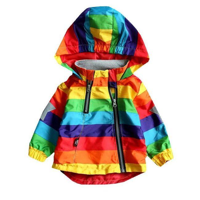 Dziecięca kurtka przeciwdeszczowa Rainbow 1