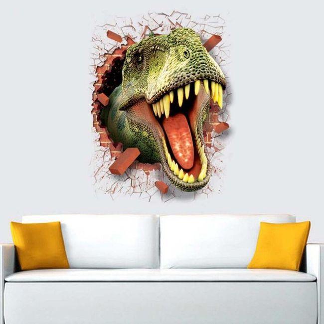 3D nalepnica na zid sa dinosaurusom 1