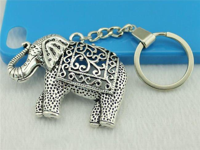 Privezak za ključeve - slon 1
