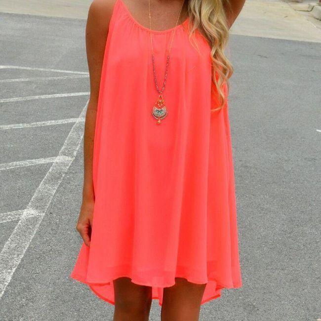 Sproščena poletna obleka za dame 1