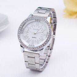 Metalowy zegarek z dużą tarczą