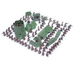 Комплект от 100 войници-играчки с оборудване