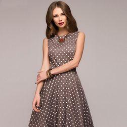 Vintage dámské šaty s puntíky
