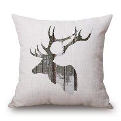 Калъфка за възглавница с печат на елен