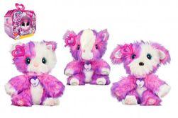 Zvieratko FUR BALLS plyš Touláček psík / mačička / poník ružový s doplnkami v krabici 24x20x10cm RM_23404635