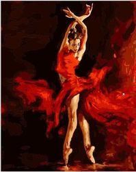Festés számok alapján - gyönyörű táncos