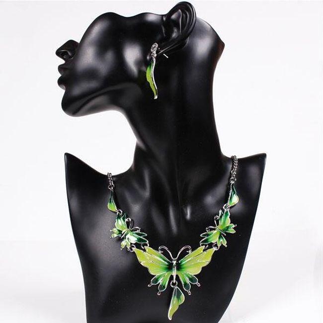 Set uhanov in ogrlice v obliki metuljev 1