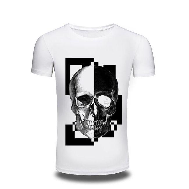 Unisex triko s lebkou v bílé barvě 1