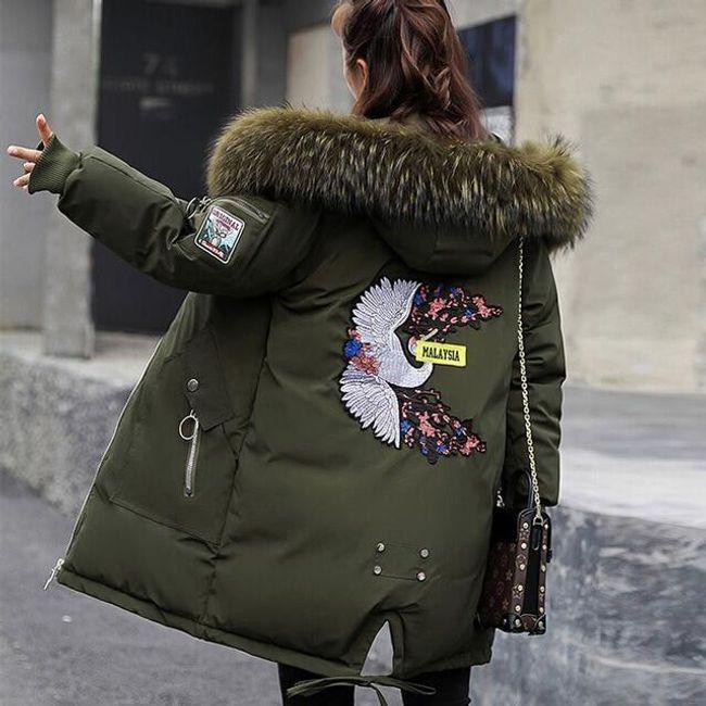 Dámská zimní bunda Alishia - army Zelená-XL 1